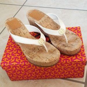*Like New* Tory Burch Thora Wedge Sandals 5.5